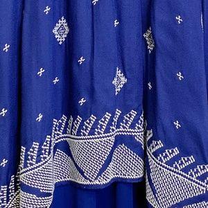 Anthropologie Skirts - Anthropologie Floreat Blue & White High-Low Skirt